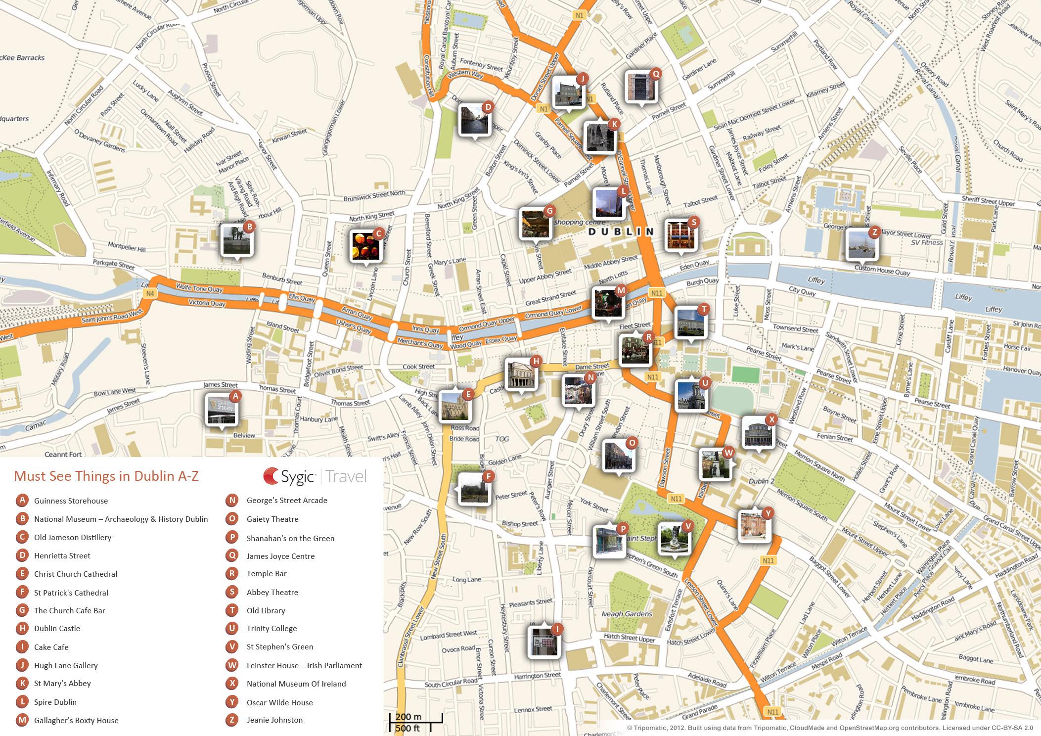 Versatile image intended for printable map of dublin