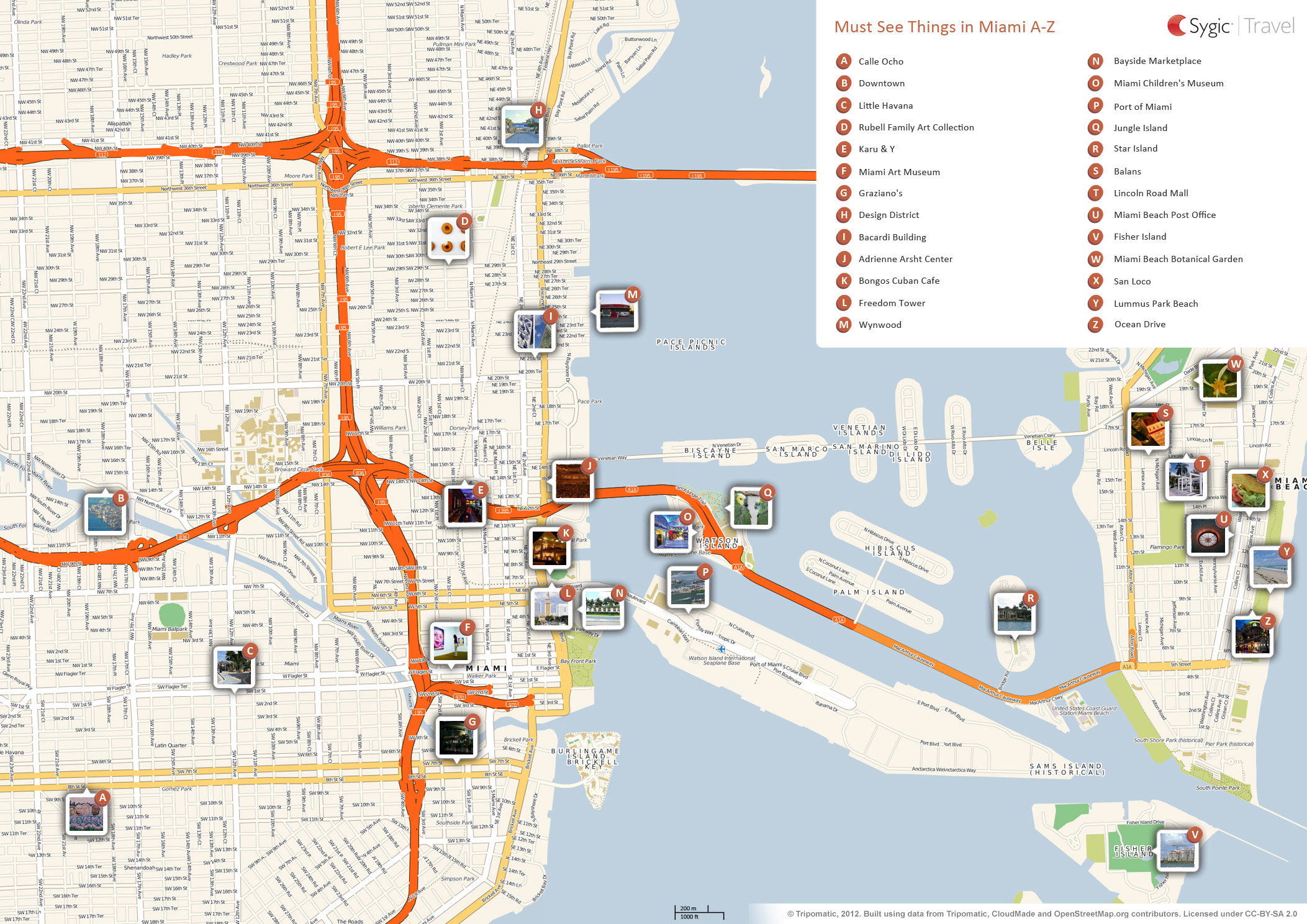 Map Of Miami Attractions Tripomatic