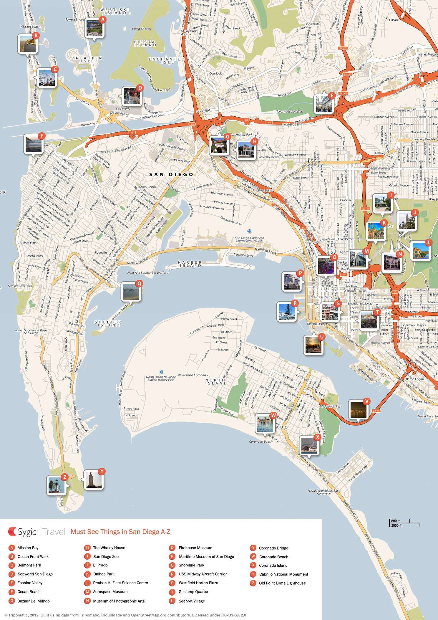 {San Diego Printable Tourist Map – Tourist Attractions Map In San Diego