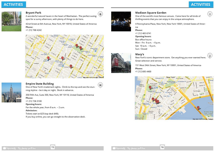 Download a New York tourist guide in PDF showing top sights and attractions.