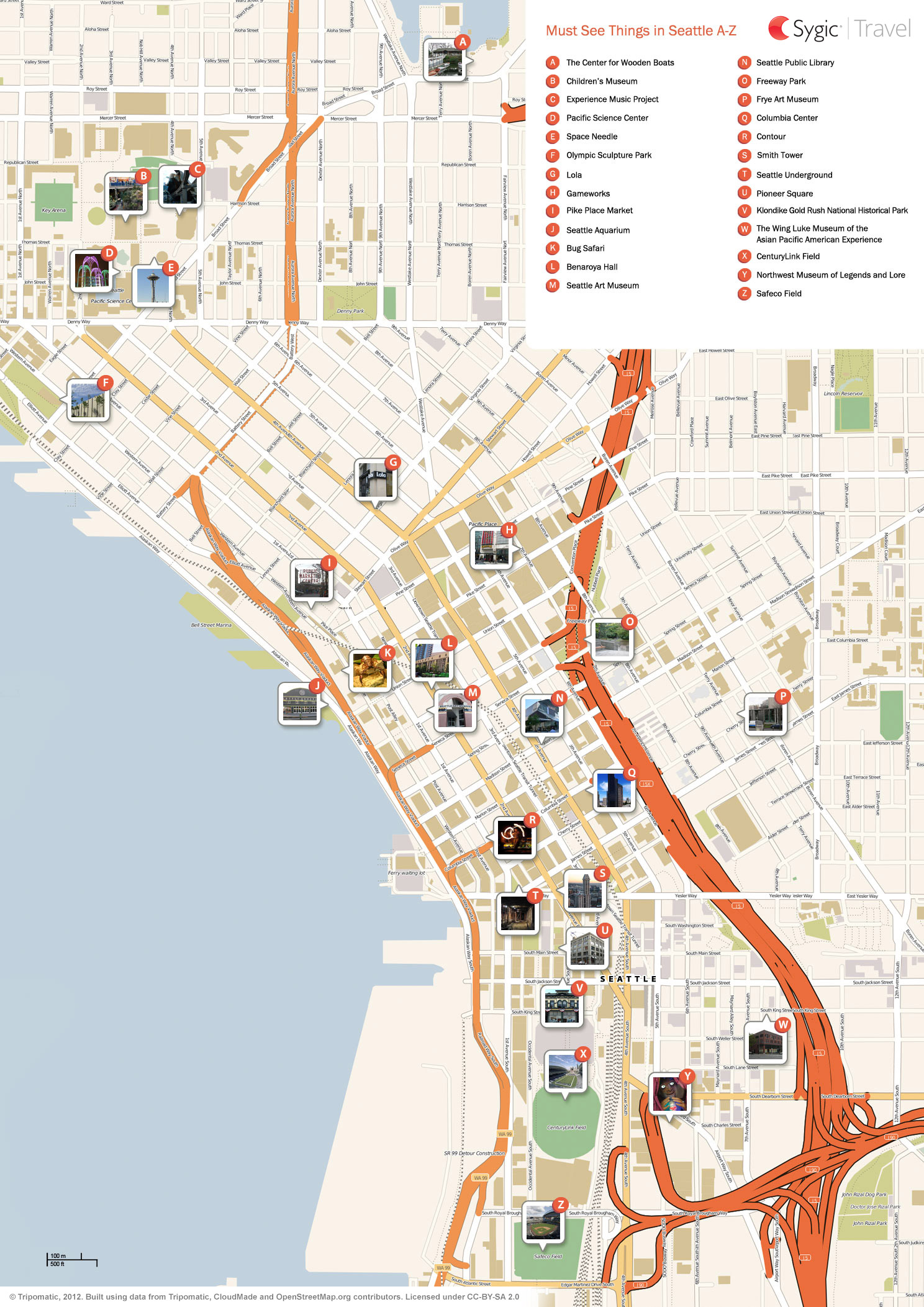 Exhilarating image throughout printable map of seattle